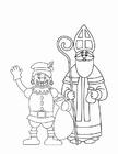 Kleurplaat Zwarte Piet en Sinterklaas (2)