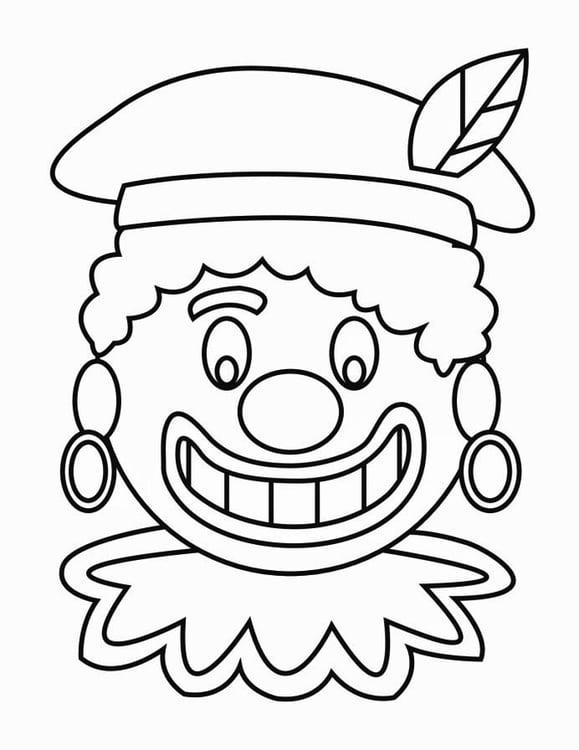 Kleine Zwarte Pietjes Kleurplaat Kleurplaat Zwarte Piet Gezicht 2 Gratis Kleurplaten Om