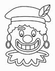 Kleurplaat Zwarte Piet gezicht (2)