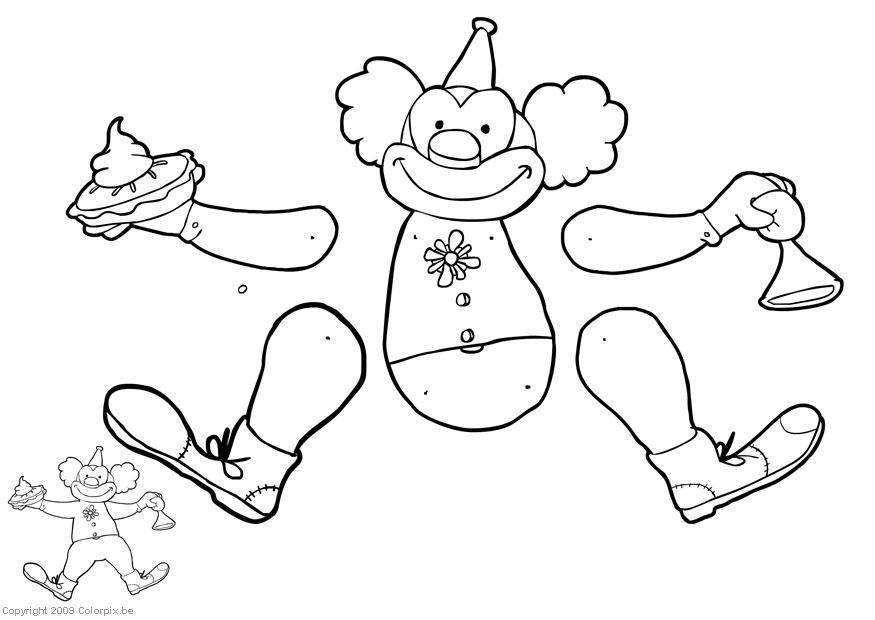 Dibujos De Marionetas Para Imprimir Y Colorear: Knutselen Clown Trekpop. Knutselen Voor Kinderen
