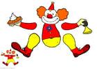 Knutselen clown trekpop