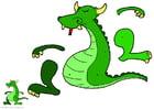 Knutselen draak trekpop