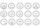 Kleurplaat emoties