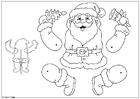 Knutselen Kerstman trekpop