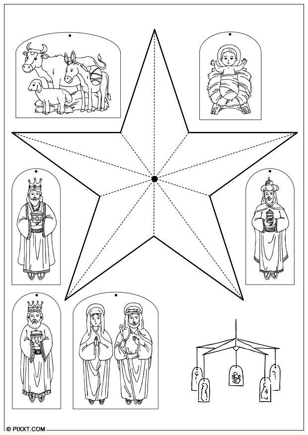 Carrousel Kleurplaat Knutselen Kerstmobiel Knutselen Voor Kinderen Cat 28191