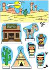Knutselen kijkdoos cowboys en indianen