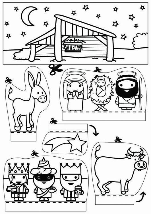 Kerststal Figuren Kleurplaten.Knutselen Kijkdoos Kerststal Knutselen Voor Kinderen Cat 26774