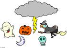 Knutselen mobiel - Halloween