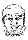 Knutselen masker piraat / boef