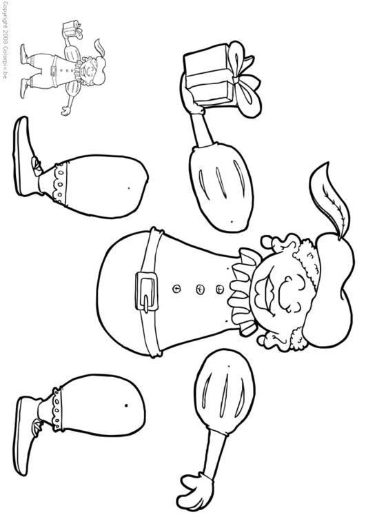 Sinterklaas Kleurplaat Peuters Schoen Knutselen Zwarte Piet Trekpop Knutselen Voor Kinderen