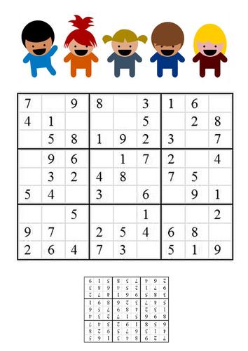 Afbeelding sudoku kinderen